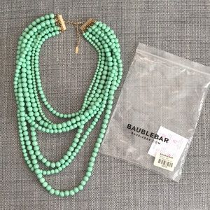 Baublebar mint bold beaded strand necklace